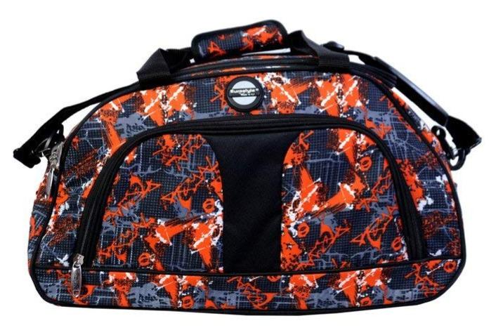 Orange & Black Overnighter Duffle