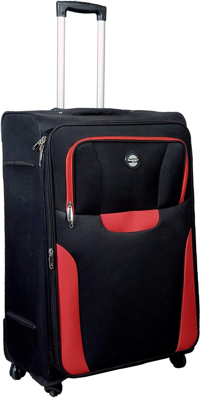 "Black & Red Trolley Bag (24"")"