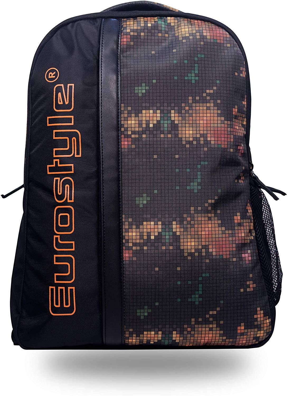 Black Backpack with Digital Design