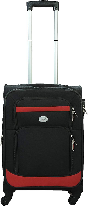 Black & Red Trolley Travel Bag