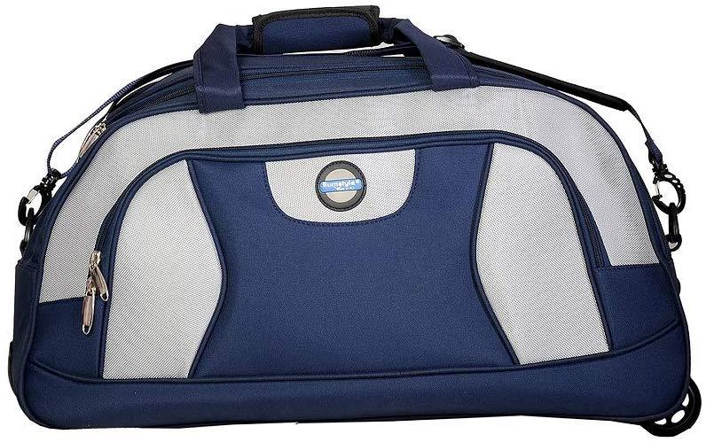 Blue & Grey Duffle Bag with Trolley