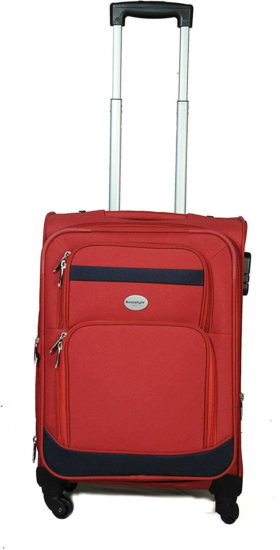 Red & Black Trolley Travel Bag