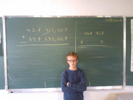 Dans la classe verte, du calcul écrit...