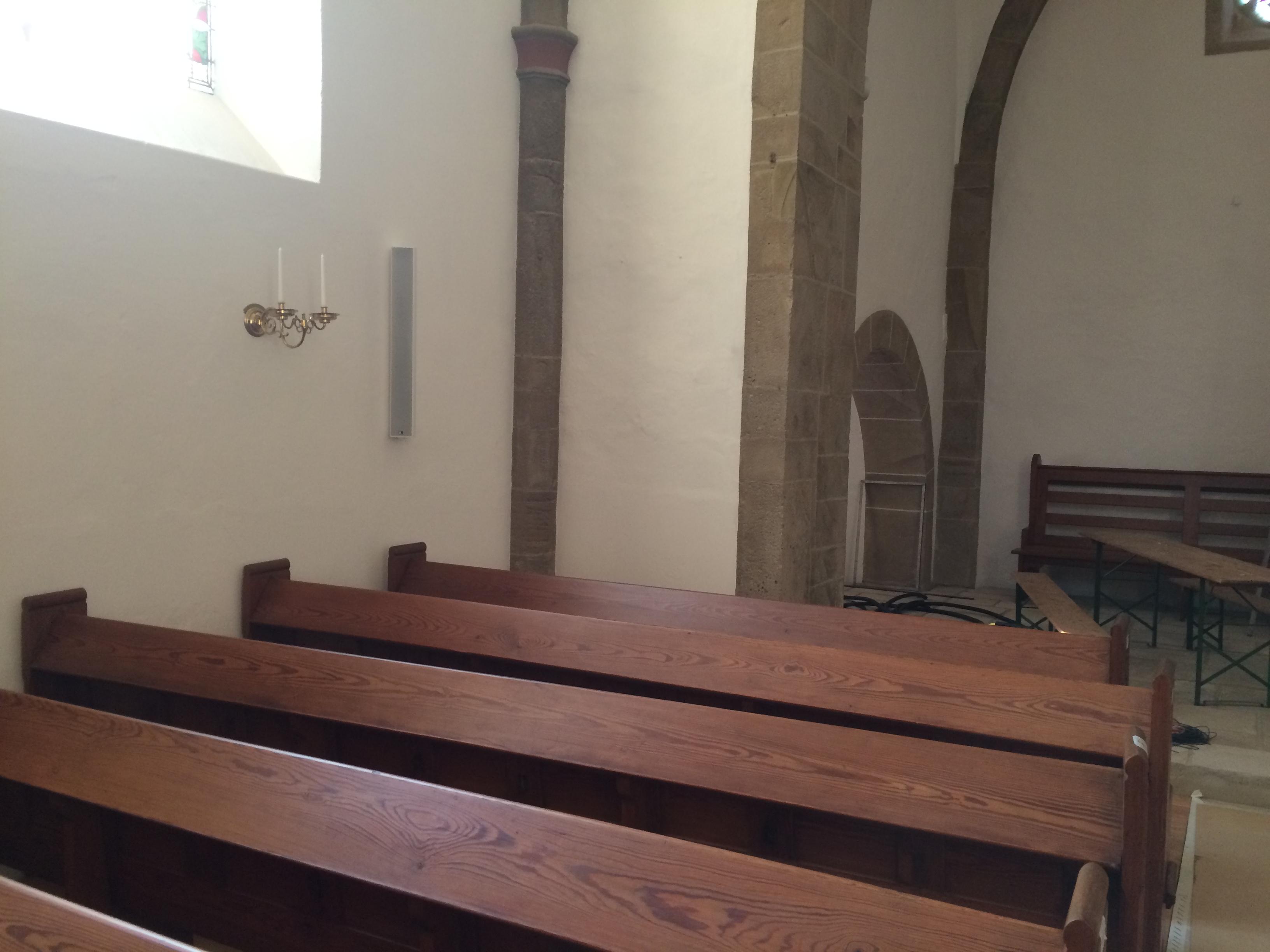 Kolibri-Medias-Kirche-Wandlautsprecher