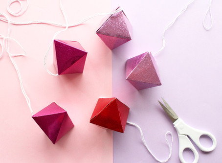 Day Four | DIY Hanging Jewel Gift Boxes | 12 days of Christmas crafts
