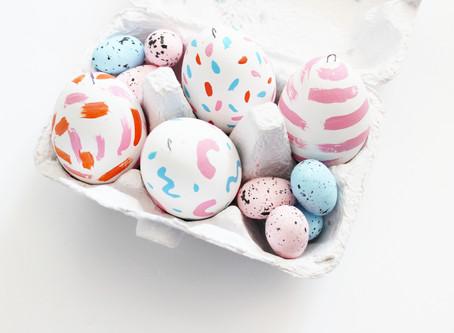 DIY 80s Inspired Painted Easter Eggs