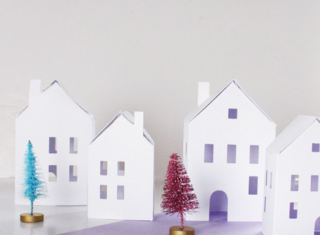 Day One | DIY Paper Village | 12 days of Christmas crafts