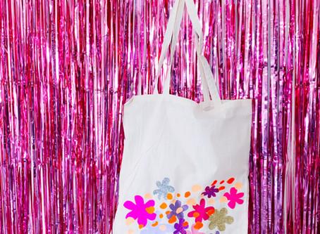 DIY FLOWER IRON ON TOTE BAG