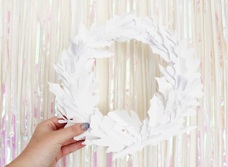 Day Five | DIY Pretty Paper Wreath | 12 days of Christmas crafts
