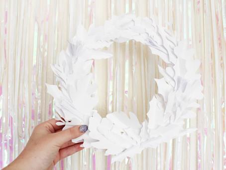 DIY Pretty Paper Wreath | 12 days of Christmas crafts