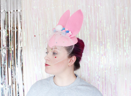 DIY 50's Style Easter Bunny Hat
