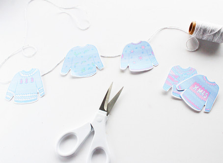 Day Six | DIY Comfy Christmas Jumper Bunting | 12 Days of Christmas crafts
