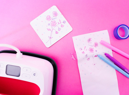 DIY INFUSIBLE INK PEN COASTERS