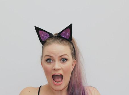 DIY GLITTER CAT EARS