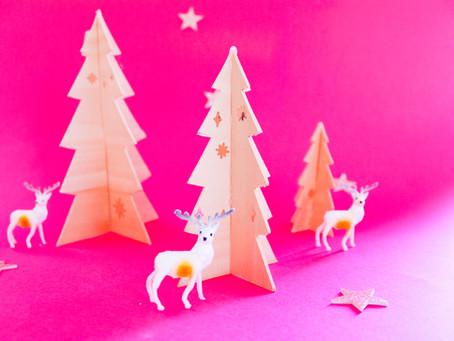DIY BALSA WOOD CHRISTMAS TREES