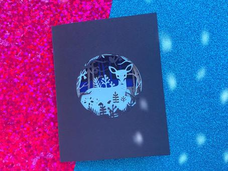 CREATE AN APERTURE SHADOW CARD WITH CRICUT JOY | CRICUT