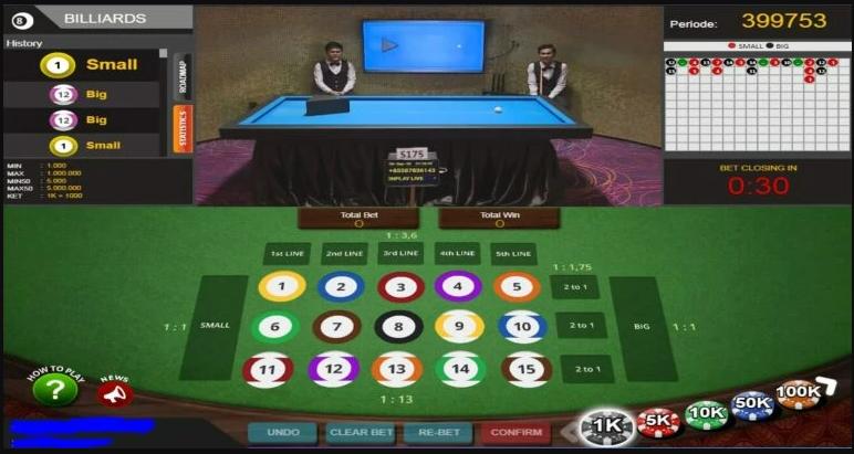 live game billiard