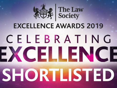 The Law Society Excellence Awards 2019 - McClure Solicitors Shortlisted!