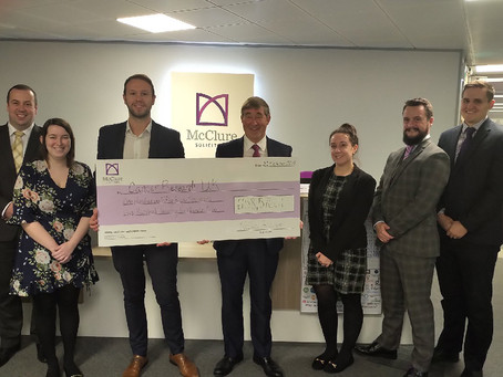 McClure raises millions for Cancer Research UK