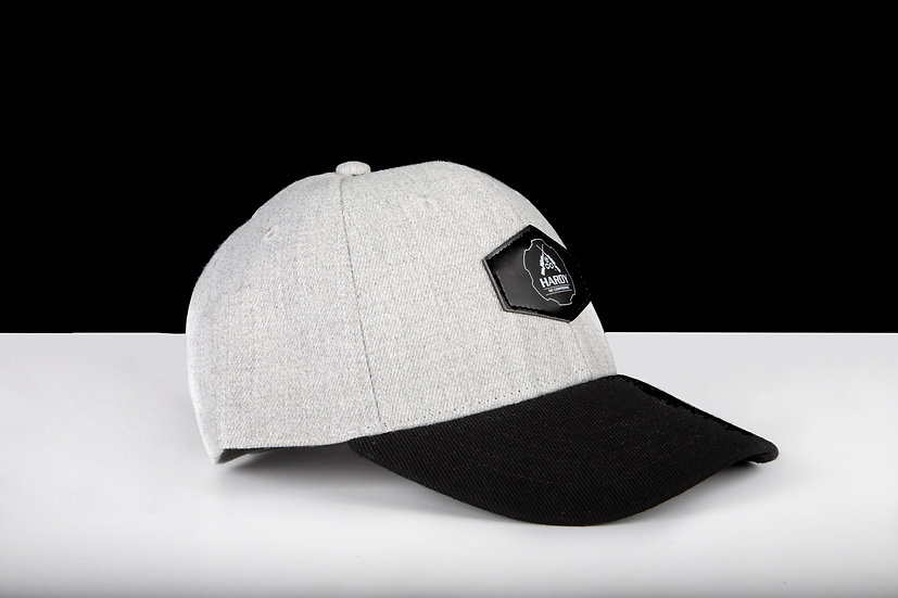 Hardy Rifle Grey Cap Leather Patch
