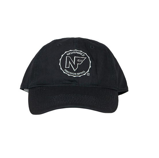 Nightforce Hat, Black Ripstop, Embroidered