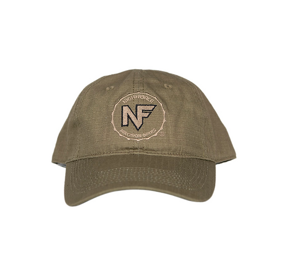 Nightforce Hat, OD Green Ripstop, Embroidered