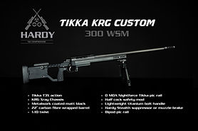 Custom Tikka with Hardy Rifle