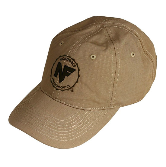 Nightforce Hat, Tan Ripstop, Embroidered