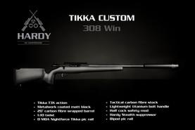 Custom Tikka with Hardy Rifle