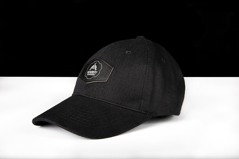 Hardy Rifle Black Cap Leather Patch