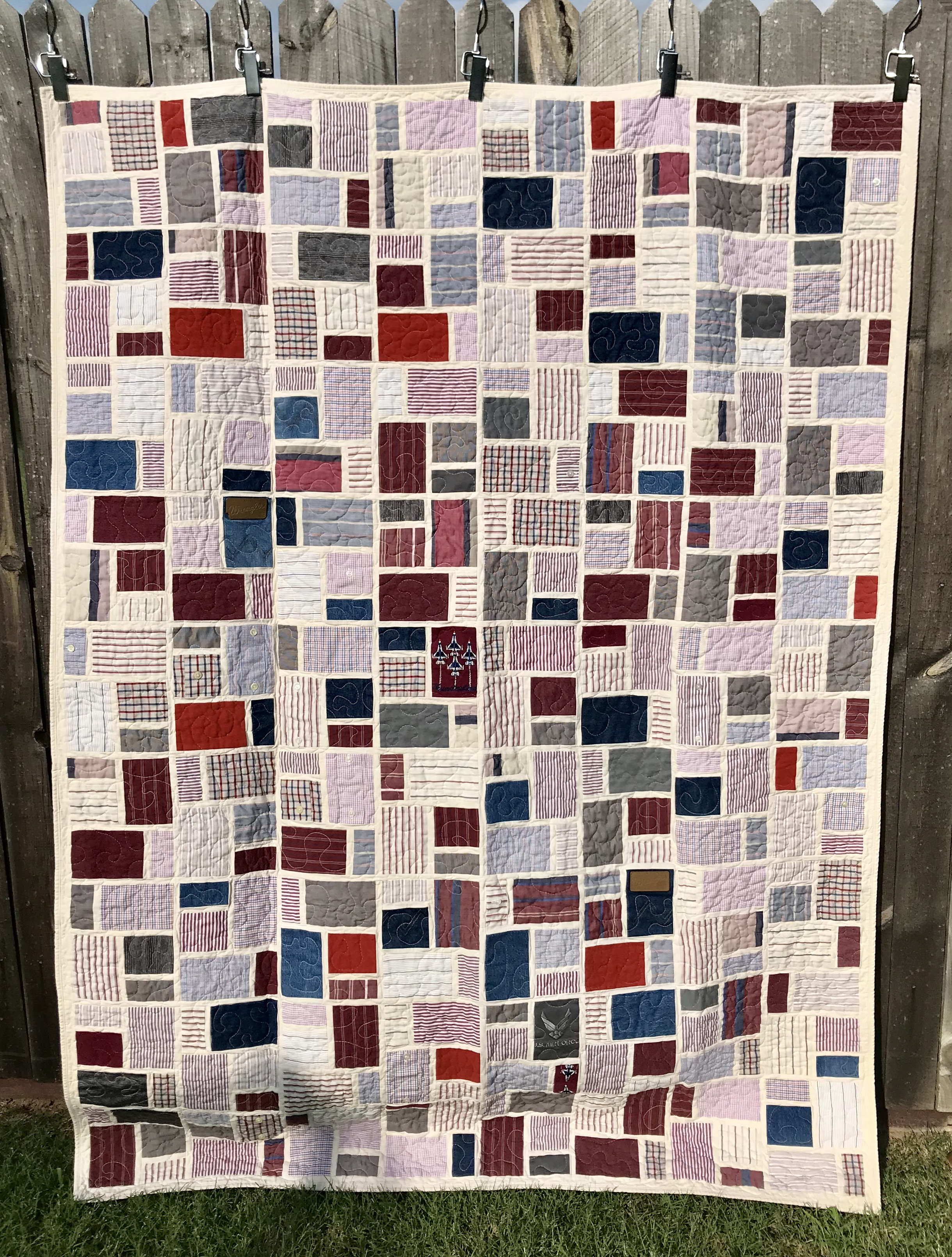 quilt from dad's clothes