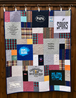 quilt from dad's shirts