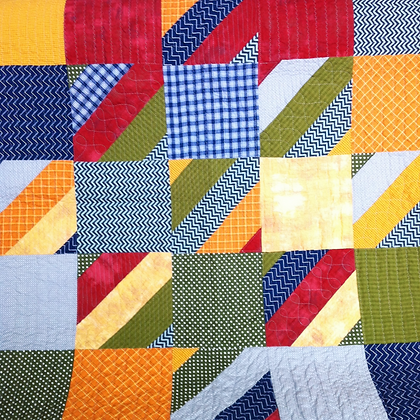 square baby boy quilt