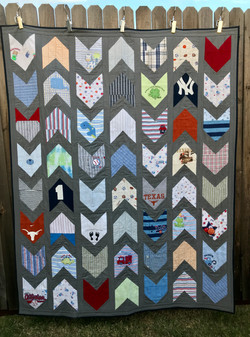 quilt from baby boy clothes