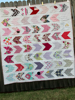 quilt from baby girl clothes
