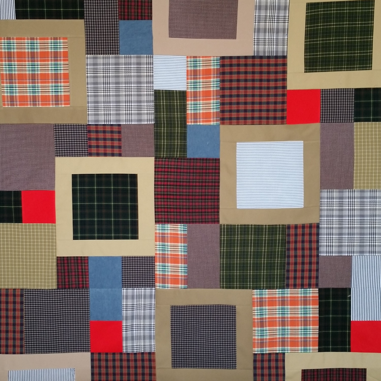 Quilt from men's clothing