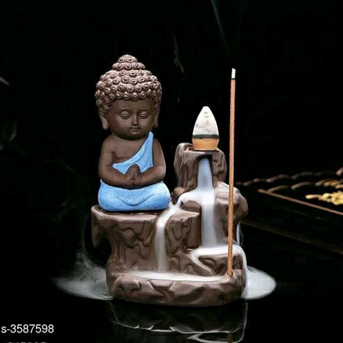Monk Figurine Smoke Fountain