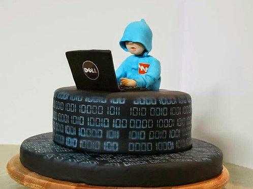 Programmer Theme Birthday Cake