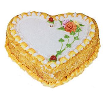 Heart Shape Butterscotch Cake ( Half Kg)