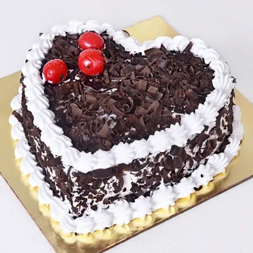 Heart Shape Black Forest Cake Half Kg