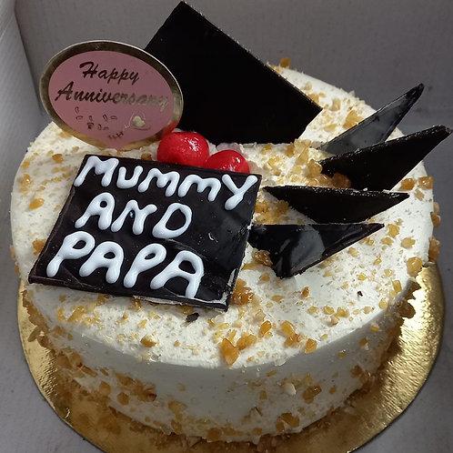 Crunchy Butterscotch Anniversary Cake