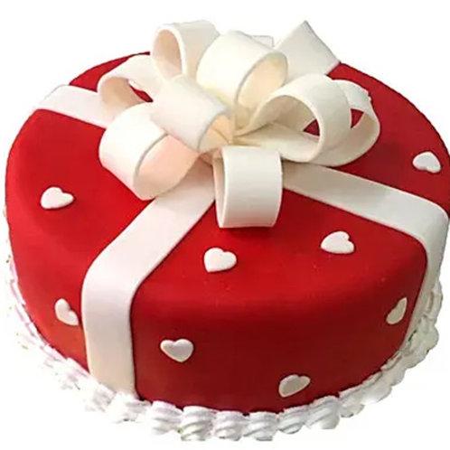 Vanilla Gift Fondant Cake 1 Kg