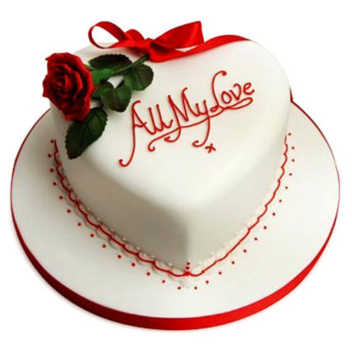 Beautiful Heart Shape Cake