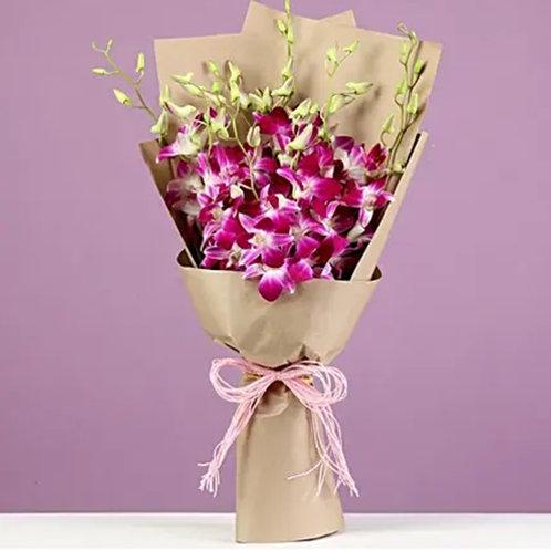 Beautiful 10 Royal Orchids Bouquet