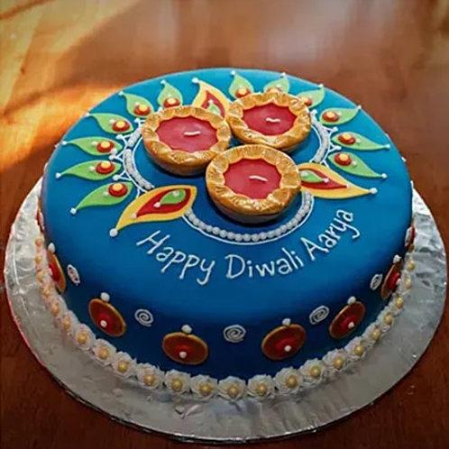 Lighting Diwali Cake