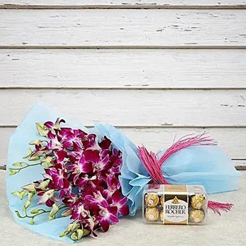 Orchids and Ferrero Rocher Combo
