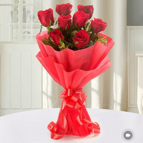 Red Rose Bouquet (8 Stems)