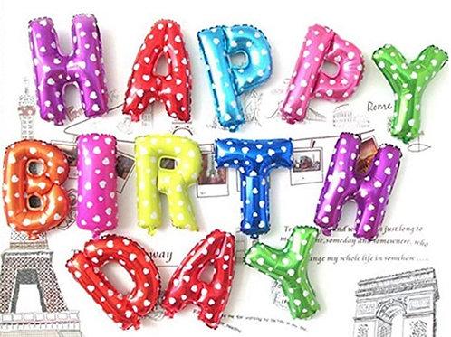 Multi Colour Foil Birthday Balloons