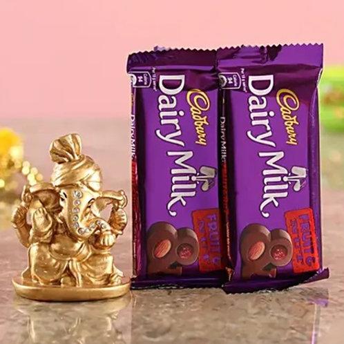 Ganesha Idol with Fruits and Nuts Chocolates