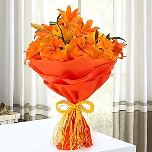 Decent Orange Asiatic Lilies